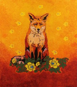 Yvette Buigues sitting-fox
